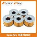 5 x filtro de óleo limpo para ex250 kawasaki el250 z400 zr400 ZX400 KZ440 Z440 Z500 KZ550 Z550 ZR550 ZX550 ZL600 ZX600 Moto
