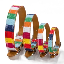 Beatiful Colorful Puppy Dog Collar And Leash Fashionable Pet Cat Leather Rope Strip Harness