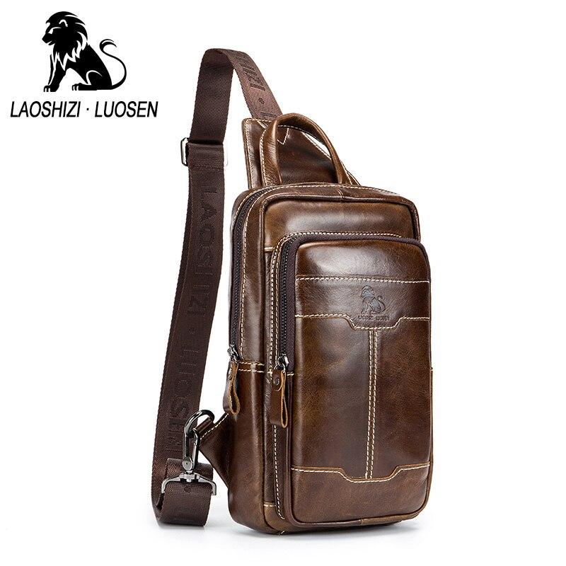 LAOSHIZI LUOSEN nouveau sac rétro pour homme sac à main en cuir véritable sac à main pour hommes sac à bandoulière en cuir de vachette décontracté sac à bandoulière