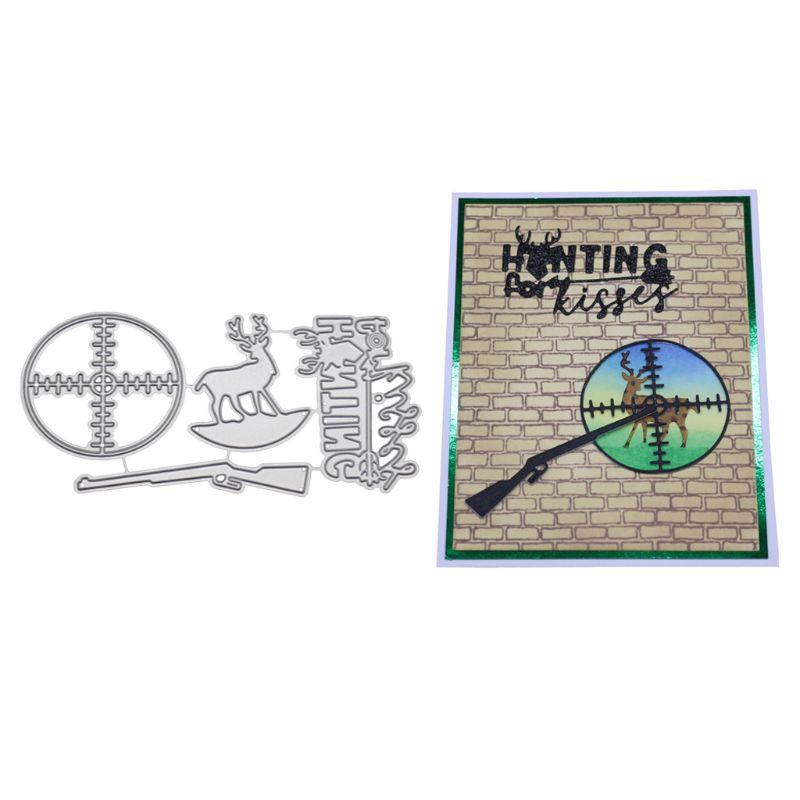 DIY Stamp Scrapbooking Xmas Card Hunt Metal Cutting Dies Stencil Embossing Decor