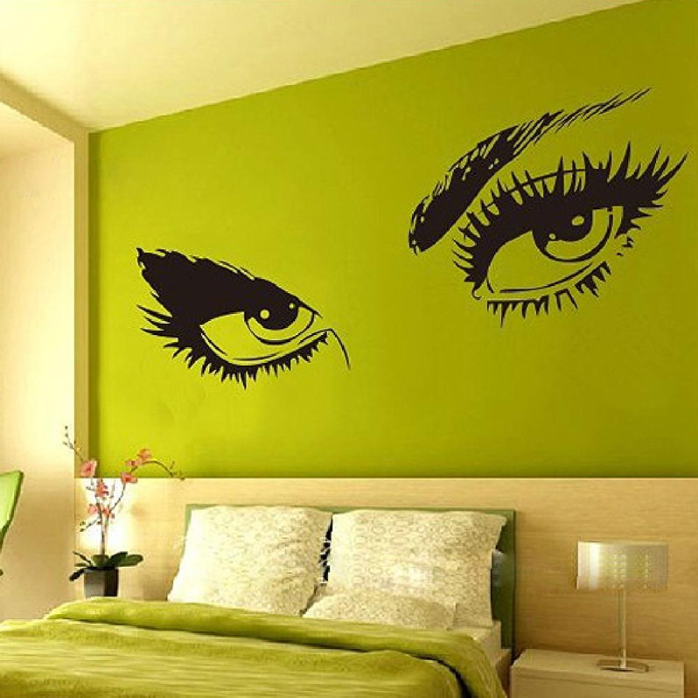 Eyes wall stickers wow modern beauty salon valentine wall decoration - Hepburn S Sexy Eyes Wall Decals Removable Adesivo De Parede Wall Sticker Home Decoration China
