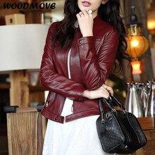 Spring Genuine Leather Jacket Women Black Zipper Slim Sit 100% Real Sheepskin Biker Jackets For Women Plus Size 3XL