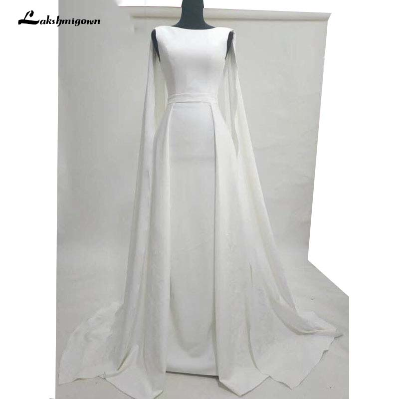 Pure White   Evening     Dresses   Well Typed with Cloak Celebrity   dresses   satin Outlayer Red Carpet   Dresses