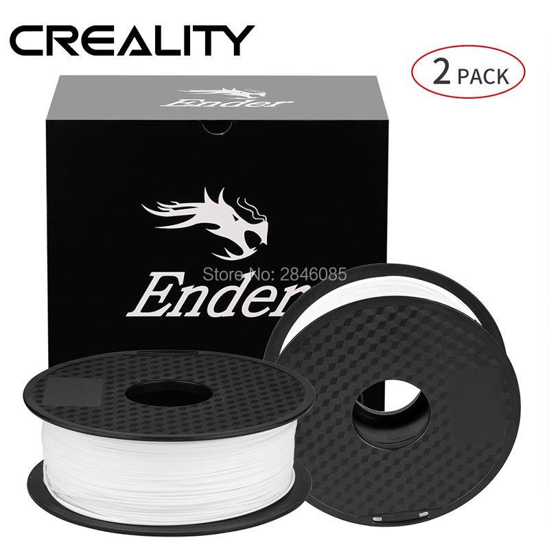 Ender 3D Printer Filament White Black Color Filament 2KG Lot High Quality PLA 1 75mm For