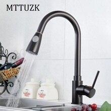 MTTUZK Бесплатная Доставка Кухонный кран горячей и холодной воды кран красно-коричневый тянуть кран на Одно Отверстие Кран torneira cozinha