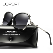 LOPERT Luxury Brand Design Cat eye Polarized Sunglasses Women Ladies Oversized Gradient Sun Glasses Female Eyewear Oculos UV400