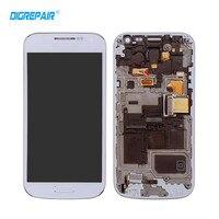 AAA Blanc Bleu pour Samsung Galaxy S4 Mini i9195 i9190 LCD Affichage à L'écran Tactile Digitizer Assemblée + Lunette Cadre, Test un par un