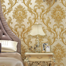 European style wallpaper Luxury high-grade non-woven fabric 3D living room bedroom TV background wallpaper classical sticker eykosi 5pairs non woven fabric water drop forefoot sticker for women high heels flattie