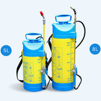 8L manual pneumatic agricultural sprayer gardening (stainless steel rod)