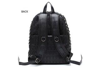 Image 2 - TEXU Daily Backpack Punk Skull Imprint Backpacks College School Bags