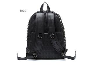 Image 2 - TEXU повседневный рюкзак в стиле панк с принтом черепа, рюкзаки для колледжа, школьные сумки