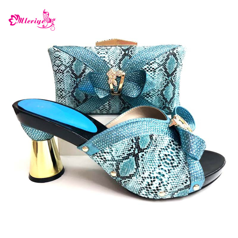 0089 African Shoes and Matching Bags Italian Shoe and Bag Set for Party In Women High Quality African Wedding Shoes and Bag недорго, оригинальная цена