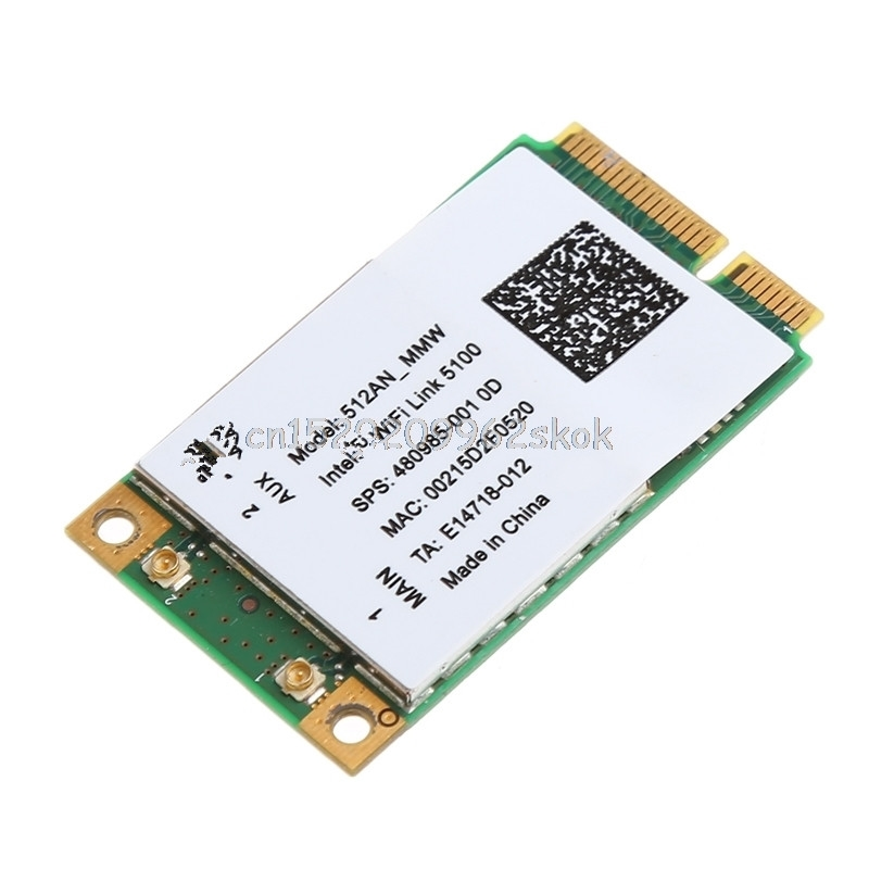 For Intel Link 5100 WIFI 512AN_MMW 300M Mini PCI-E Wireless WLAN Card 2.4/5GHz #H029#For Intel Link 5100 WIFI 512AN_MMW 300M Mini PCI-E Wireless WLAN Card 2.4/5GHz #H029#