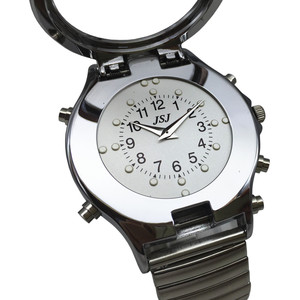 Image 3 - Spanish Talking and Tactile Watch for Blind People or Visually Impaired People, White Dial, Black Number