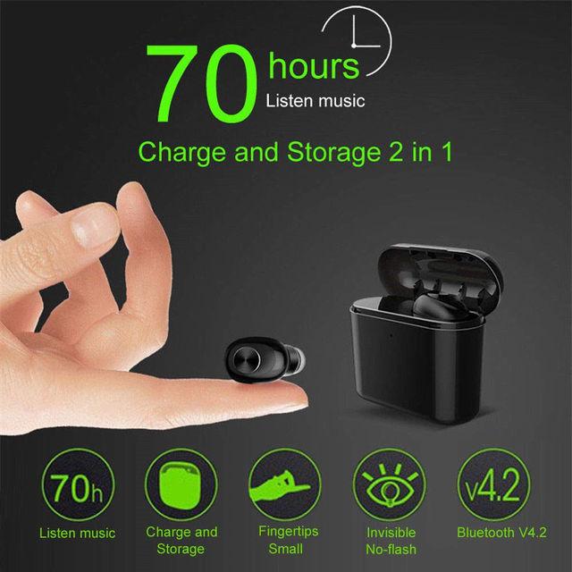 Bluetooth Wireless Sports Earphones Earpods Headset For Apple iPhone iPad