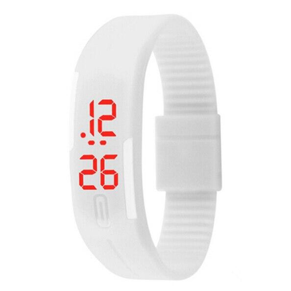12 Colors Fashion Women Men Rubber LED Watch Date Sport Bracelet Digital Wrist Watch Waterproof Colorful Saat Relogio Feminino