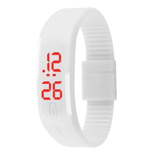12 Colors Fashion Women Men Rubber LED Watch Date Sport Bracelet Digital Wrist W