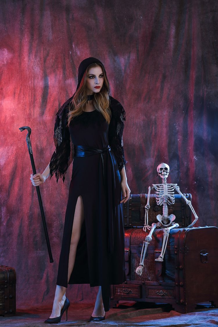 Sexy scary costumes cosplay Vampire black costume witch Long Dress Halloween Fancy fantasia anime infantil women costume