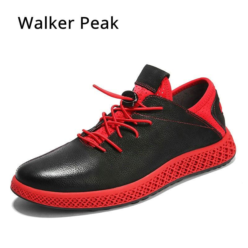 Fashion Genuine Leather Men Shoes Wear-resistant Bottom Black Sneakers Men Cool Adult Casual Shoes Footwear Krasovki Zapatillas