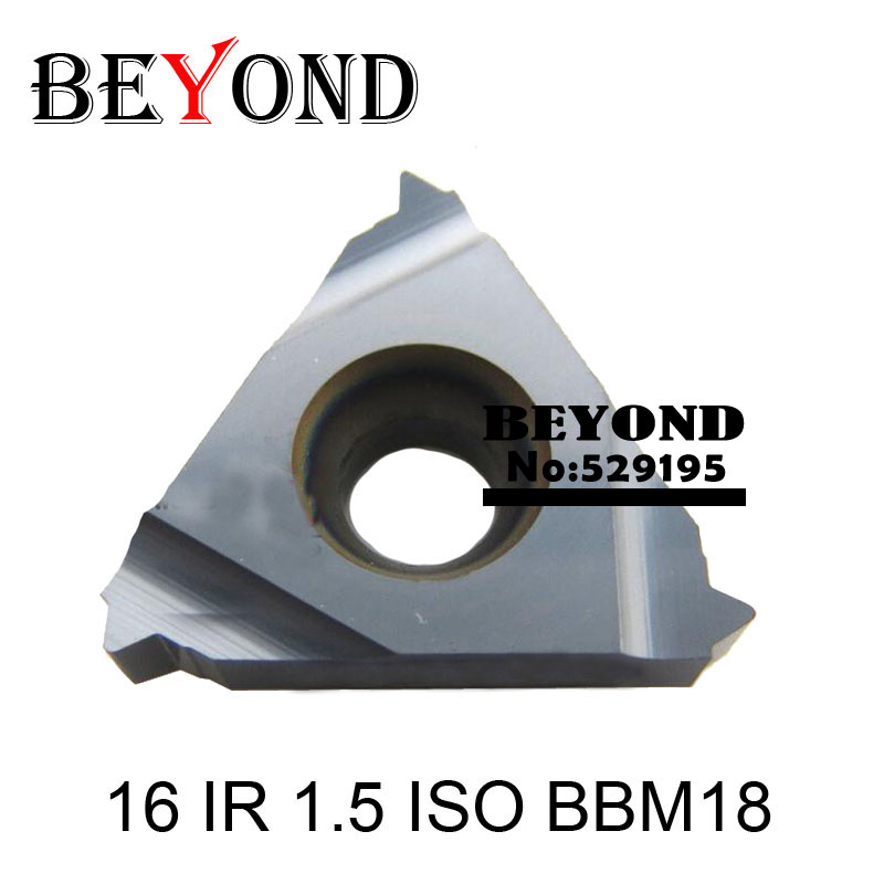 16 IR 1,5 ISO BBM18, inserti per tornio filettati in carburo di - Macchine utensili e accessori - Fotografia 1