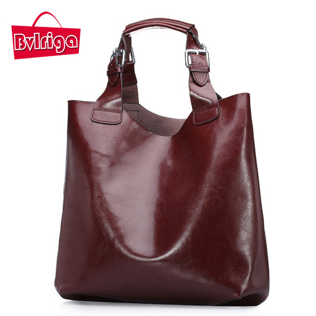 BVLRIGA Designer handbags high quality Women messenger bags Genuine leather bag Fashion Brand top-handle bags Oil Leather Bolsos