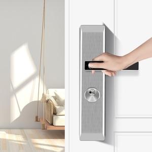 Image 2 - ステンレス鋼隠し指紋ロック電子バイオメトリック指紋ドアロック屋内個人保護ホームロック
