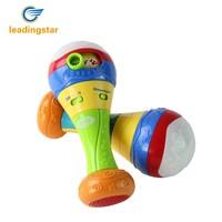 LeadingStar 2PCS Baby Shaker Sand Hammer Toy Dynamic Rhythm Stick Rattles Kids Musical Party Favor Educational