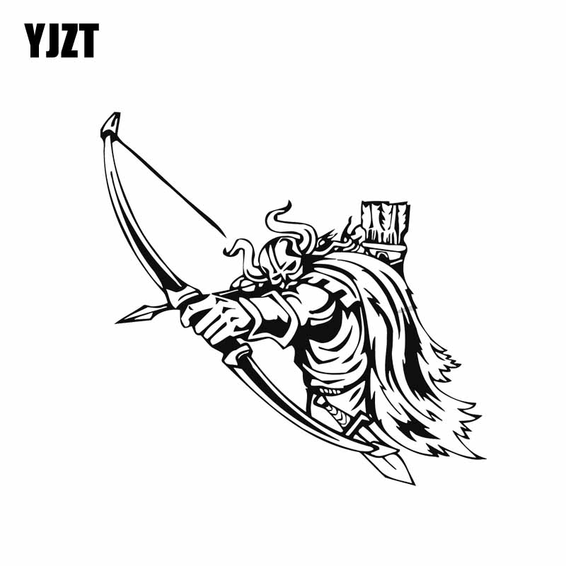 YJZT 13.6*13.2CM Brave Strong Cool Viking Warrior Covering The Body Fashion Car Sticker Decal Black/Silver Vinyl C20-1669