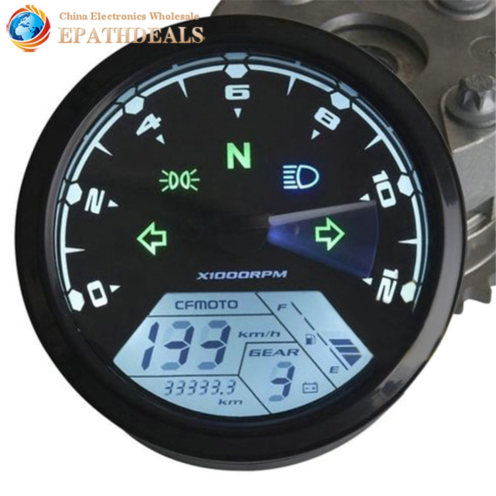 12000RMP LCD Digital Motorcycle Speedometer Tachometer Odometer Guage 1 4 Cylinders Motorbike Parts font b Accessories