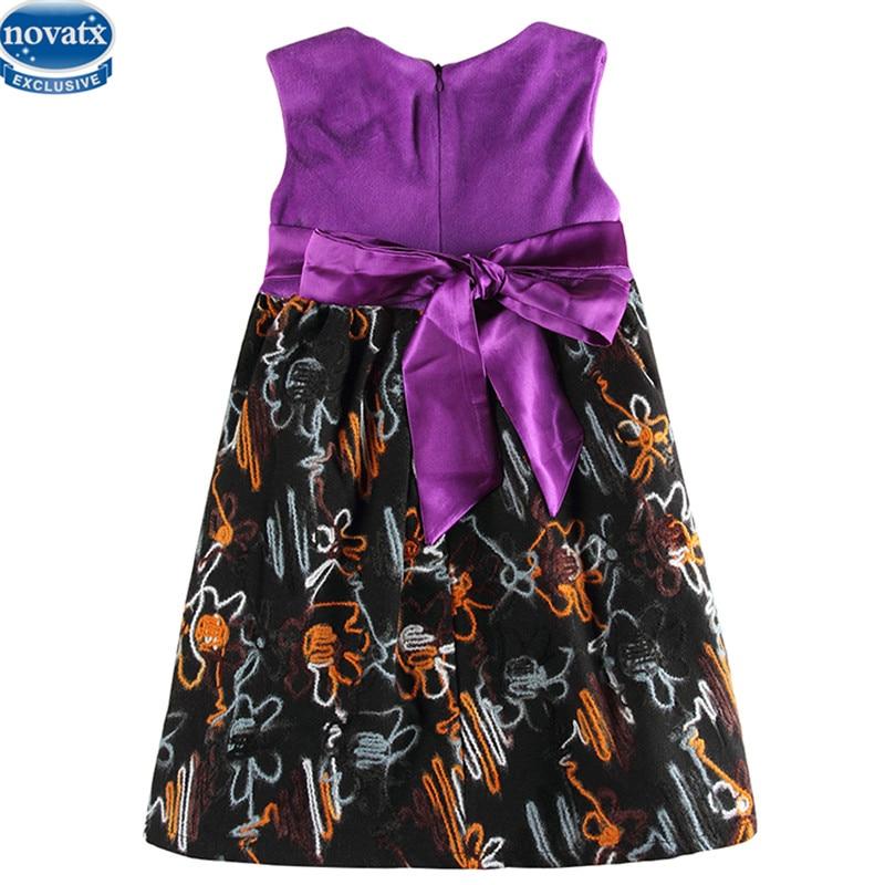 novatx H6659 reatil party girl dress nova new sleeveless floral dresses for girl children kids clothes baby girl clothing
