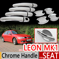 For Seat Leon MK1 1999-2005 Chrome Door Handles Covers Car Accessories Stickers Car Styling 1M 2000 2001 2002 2003 2004 FR FR+
