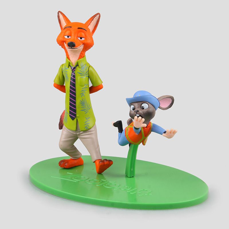 Cartoon movies Zootopia Judy & Nick PVC Action Figure Collectible Toy Kid Toys Gifts Stock sale Box packing Free Shipping mini qute full set 2 pcs lot hc zootopia huge nick wilde judy hopps plastic building block cartoon model educational toy no 9011