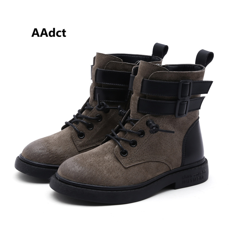 AAdct Cotton warm martin boots for boys New fashion girls boots 2018 Winter short kids boots aadct cotton warm children snow boots for glitter girls new fashion shinning short girls boots 2018 winter kids boots