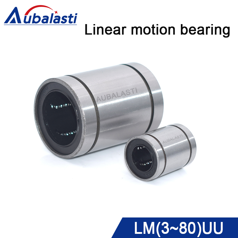 Linear bearing linear ball 3d printer part LM3UU 4UU 5 6 8 10 12 13 20 25 30 35 <font><b>40</b></font> 50 UU use for <font><b>cnc</b></font> router engraving machine image
