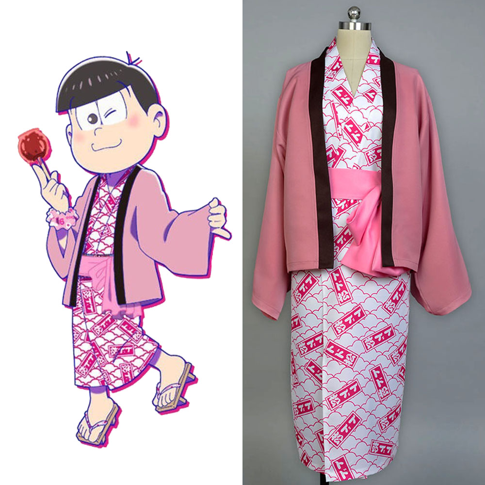 Osomatsu-kun cosplay Todomatsu Yukata Kimono Costume full set bathrobe cosplay Halloween Party Carnival Christmas Costume