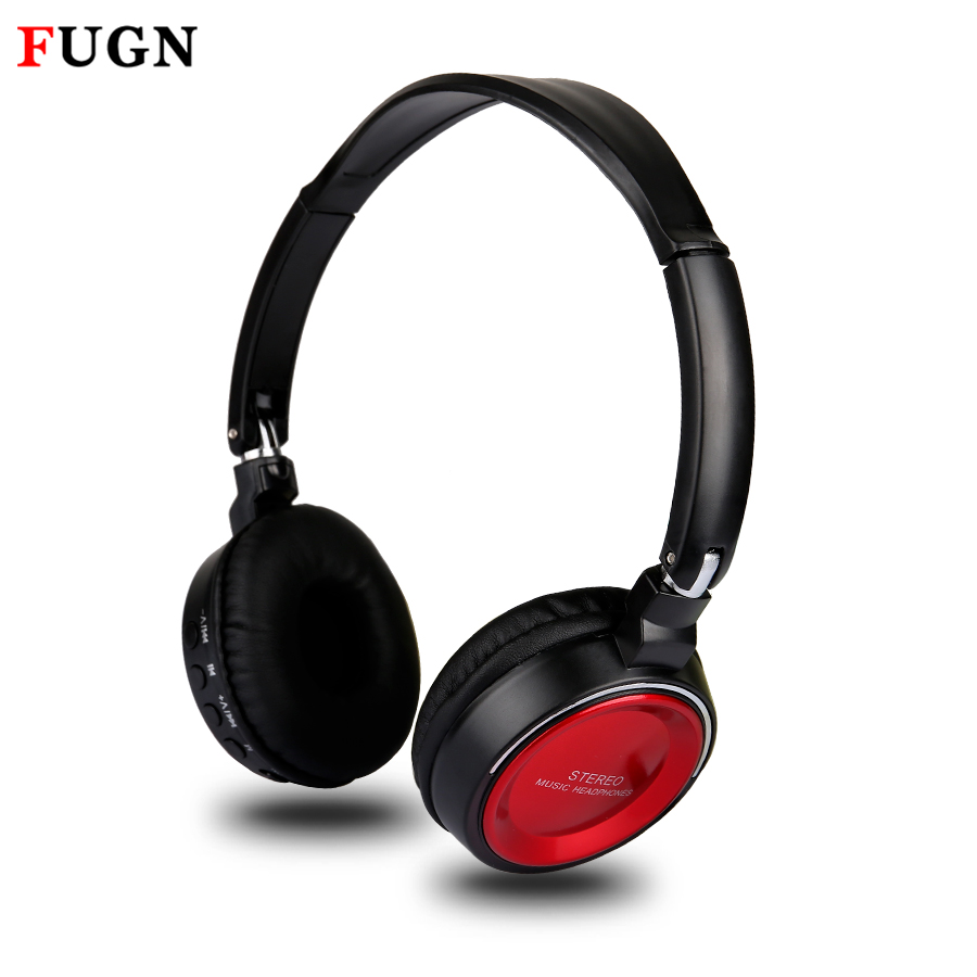 FUGN bluetooth headphone foldable bluetooth4.0 stereo headset with microphone fm radio wireless earphone for gamer gaming casque each g1100 shake e sports gaming mic led light headset headphone casque with 7 1 heavy bass surround sound for pc gamer