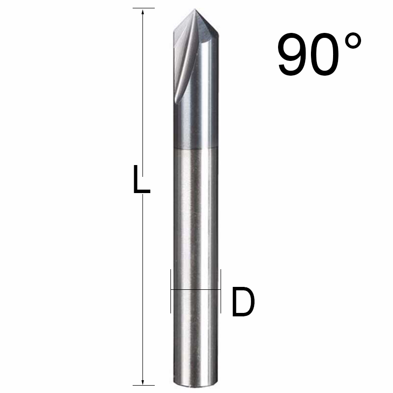 UCHEER 1pc 3 Flutes HRC45 Chamfer End Mill 90° for aluminum Router Bit Tool Carbide Milling Cutters Mayitr Tungsten steel in Milling Cutter from Tools