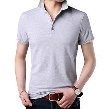 Gi.Amagi 2018 Thin Models Solid Color Casual Short-sleeved Lapel Polo Shirt  Men a32c8ed2700d6