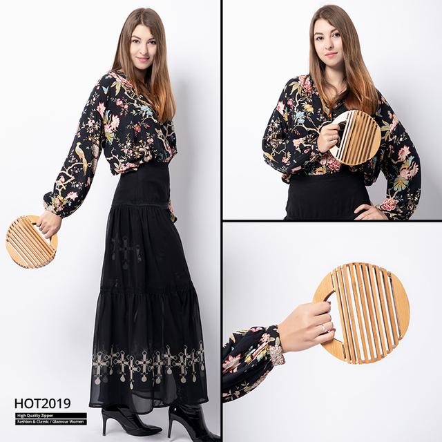 REALER Bamboo top-handle bag female women handbag Summer holiday beach bag for ladies woven luxury designer small hollow 2019