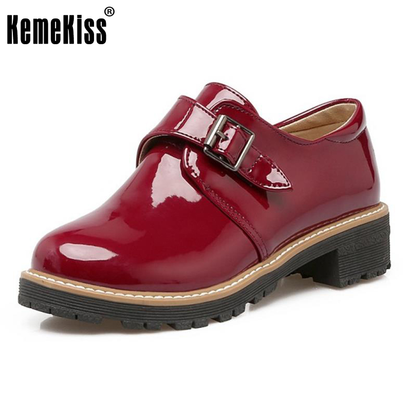 KemeKiss Size 34-43 Office Lady High Heel Shoes Women Round Toe Metal Buckle Thick Heel Pumps Party Casual Soft Female Footwears kemekiss size 32 45 women concise pumps square toe high heels shoes solid office lady thick heel pump party wedding footwears