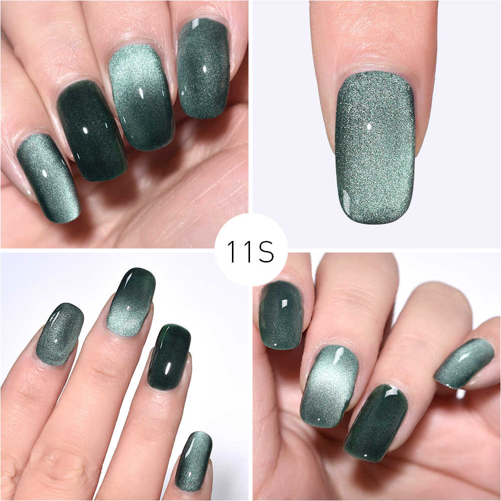 Rolabling 5 Ml Meteorit Lebar Cat Eye Nail Gel Uv Gel Lacquer Cat Kuku Kuku Seni Rendam Off Pernis pernis Kuku Lem