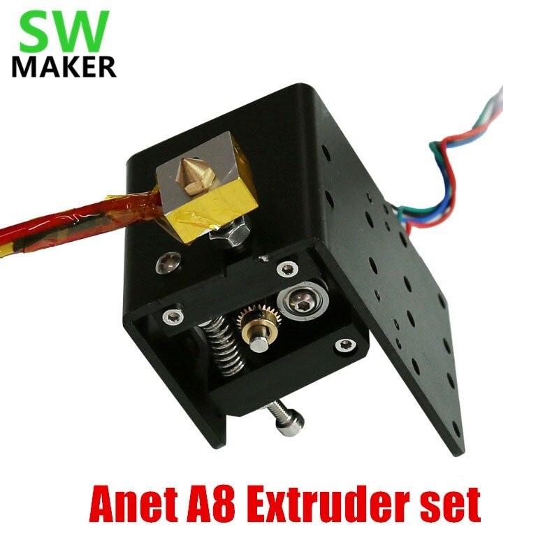 1set Anet A8 Head MK8 Extruder Motor J head Hotend single nozzle head extrusion 1 75mm