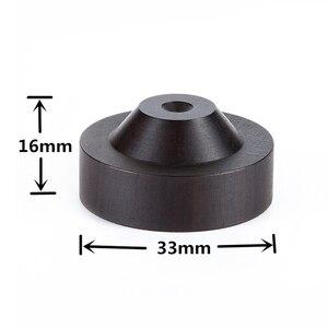 Image 2 - 33mm x 16mm haut parleur pic Isolation ébène bois support pieds socle HIFI isolateur en bois