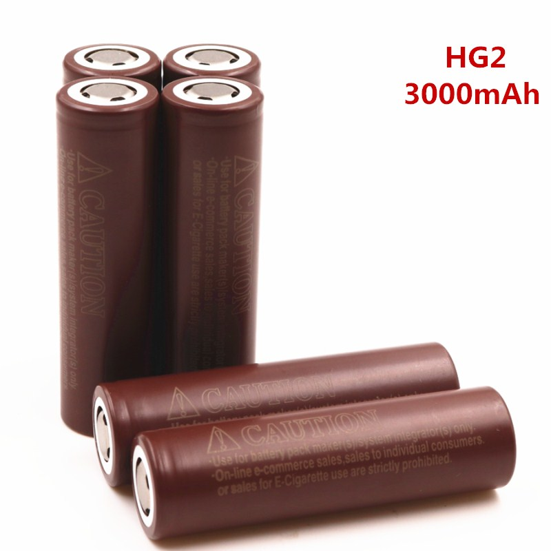 New PINTTENEN For LG HG2 18650 18650 3000mah electronic cigarette Rechargeable batteries power high discharge 30A large current 1pcs for samsung original 18650 25r inr1865025r 20a discharge lithium batteries 2500mah electronic cigarette power battery