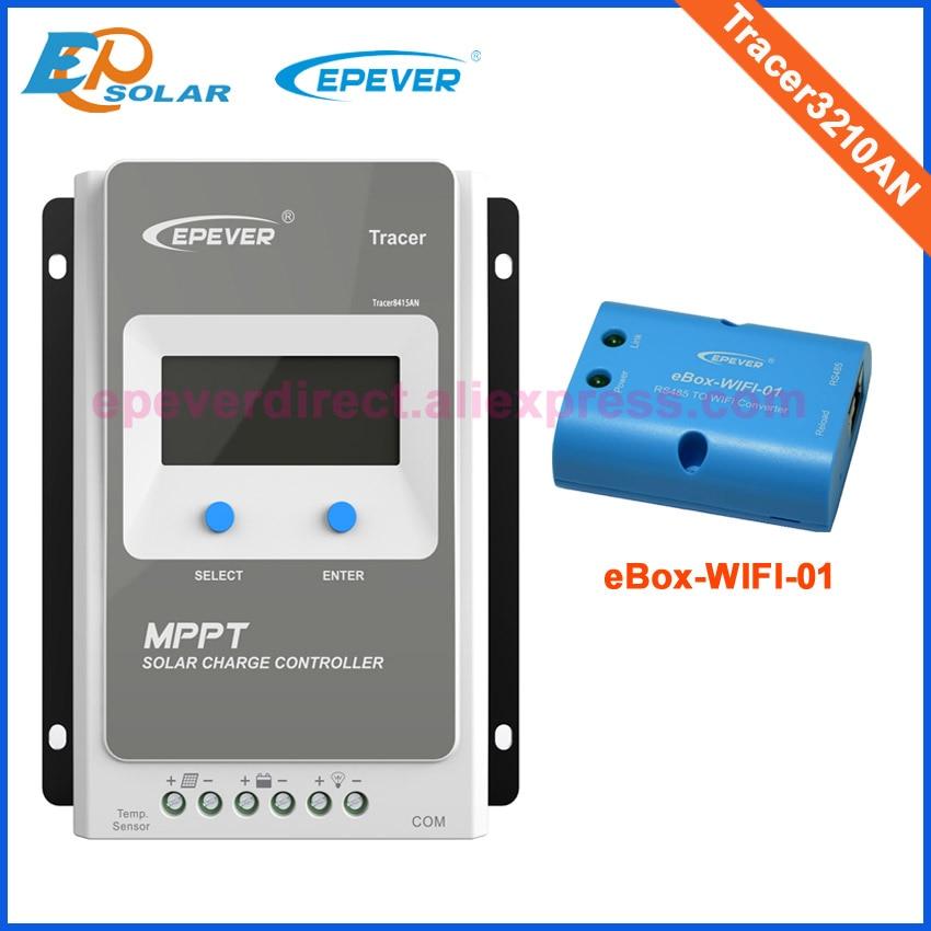 Traceur 3210AN 30A MPPT de Charge Solaire Contrôleur 12 V 24 V LCD EPEVER Régulateur MT50 WIFI Bluetooth PC Communication Mobile APP