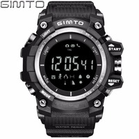 GIMTO Military Sport Smart Watch Men Waterproof Silicone Diving Stopwatch Shock Electronic Wrist Watches Bluetooth Smartwatch