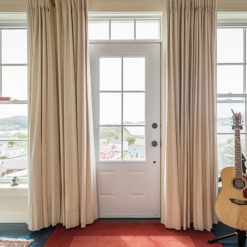 Solid Colors Blackout Curtains For The Bedroom Faux Linen Modern Curtains  For Living Room Window Curtains Blinds Custom Made In Curtains From Home U0026  Garden ...