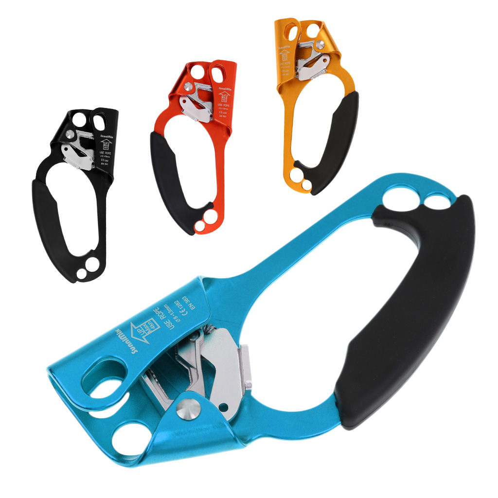 1 X 4KN Aluminum-magnesium Alloy Arborist Tree Rock Climbing Right/ Left Hand Ascender Riser 8-13mm Rope Clamp Grasp Device