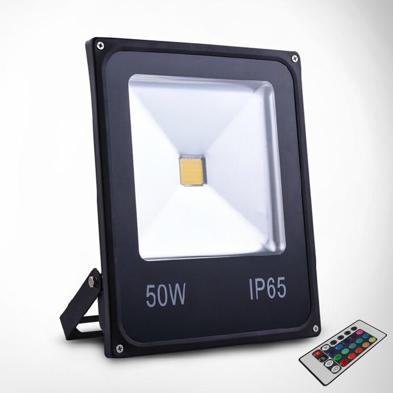 LED Flood Light LED spotlight 50W RGB Remote Control Spotlight LED Street light,changeable color led lighting free shipping