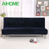 Winter Plush Sofa Bed Cover All inclusive Slipcover For Sofa Without Armrest No Handrail Sofa Cover Three Seat Capa De Sofa